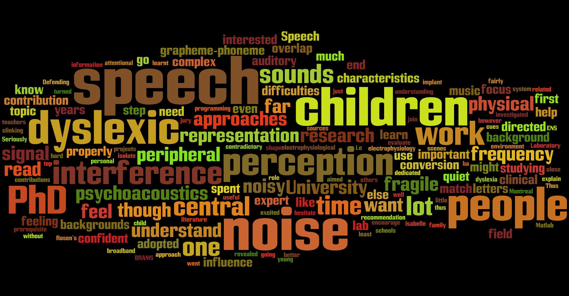 Axelle Calcus on speech perception in noise
