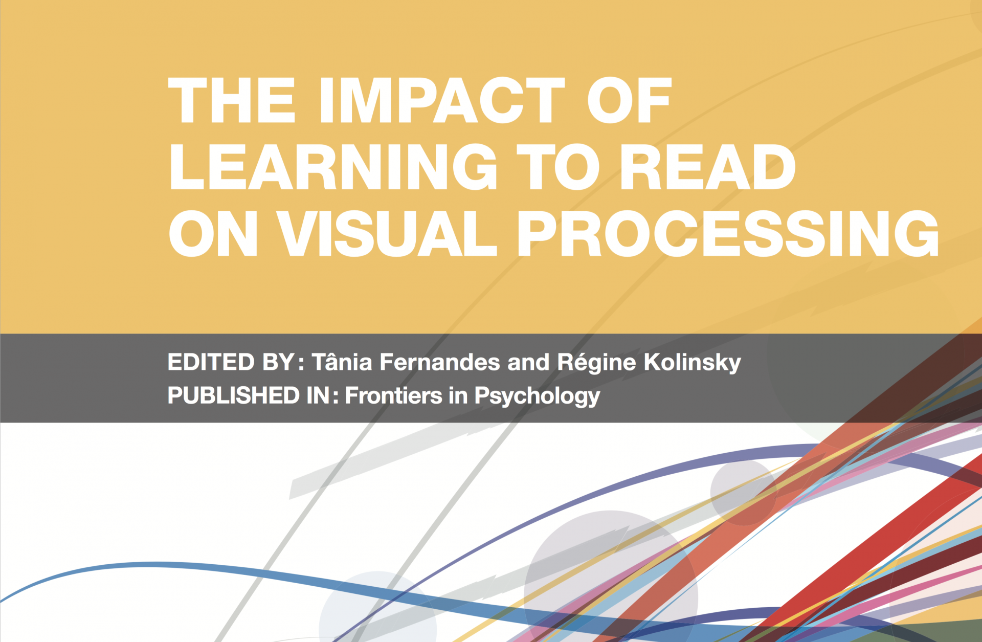The impact of learning to read on visual processing: a Frontiers Research Topic co-edited by Régine Kolinsky